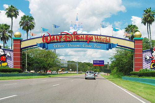 Disney entrance in Orlando